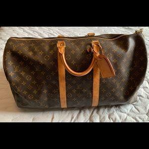 Louis Vuitton Keepall 55 Brown Monogram Duffle